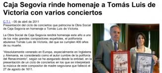 Europa Press, 9 de Abril de 2011
